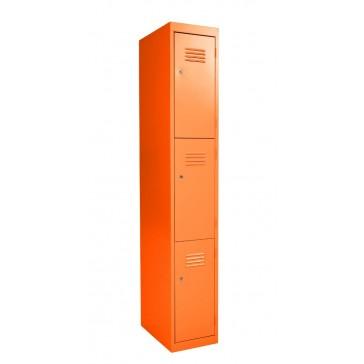 Premium Three Door Blue Steel Locker