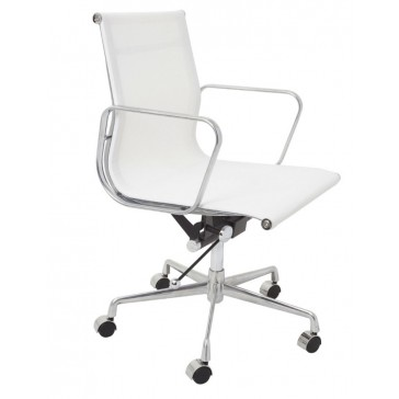 Designer Mesh Executive Office Chair - Low Back White