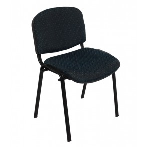 4 Leg Poly Back Upholstered Stackable Visitor's Chair