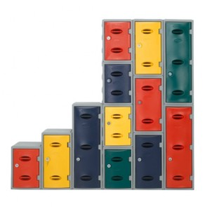 Plastic Lockers Stacked
