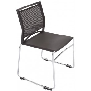 Stackable Mesh Chair - Chrome Sled