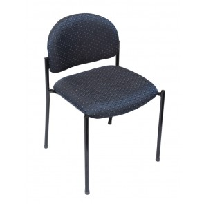 Upholstered Stackable 4 Leg Visitor's Chair - Low Back