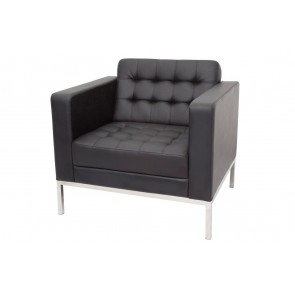 Single Seat Button PU Lounge Chair