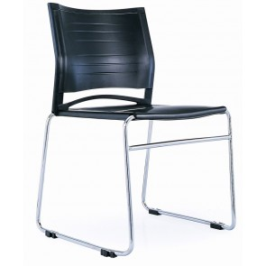 Stackable/Linking Chrome Sled Visitor's Chair