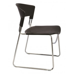 Chrome Sled Stackable Visitor's Chair